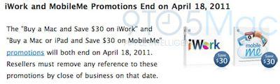 170453 iwork mobileme rebates ending