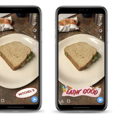 snapchat food filters