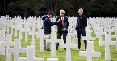 tim cook normandy graveyard