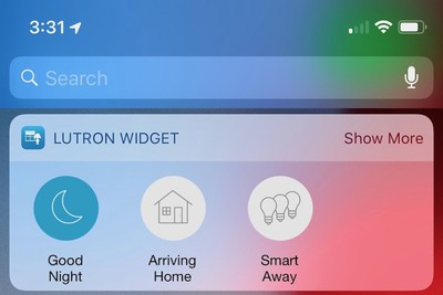 lutron today widget