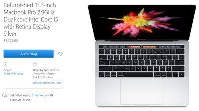 refurbished 13 inch macbook pro touch bar