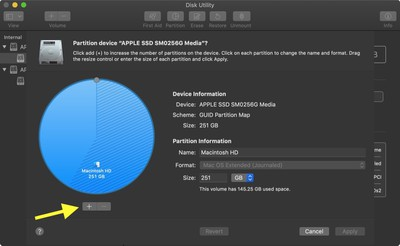 disk utility partition device