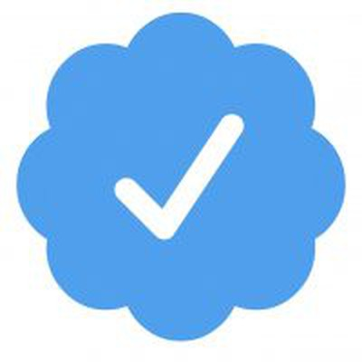 Tick verificado por Twitter acolchado