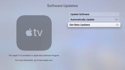 apple tv software updates