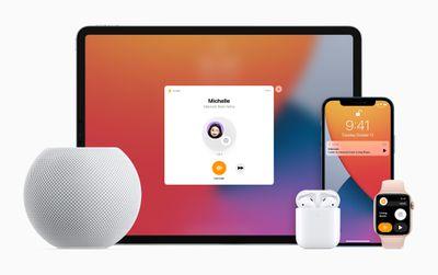 Apple HomePod mini iPad iPhone applewatch airpods intercom