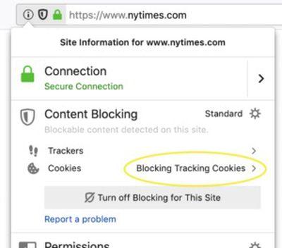 firefox ETP Blocking Cookies