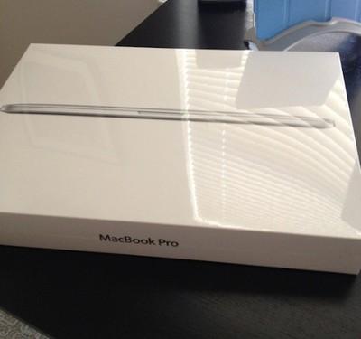 retina macbook pro arrived