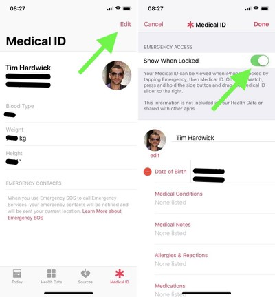 apple medical id edit