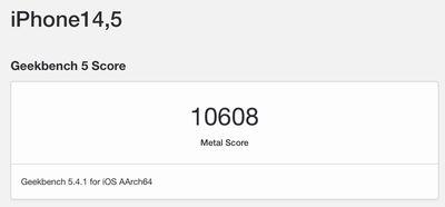 iphone 13 geekbench metal