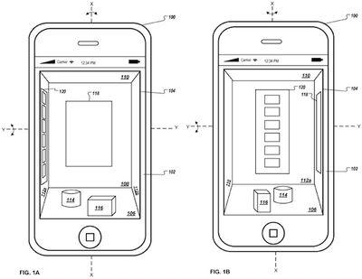apple 3d interface iphone