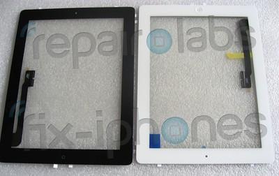 ipad 3 digitizer black white