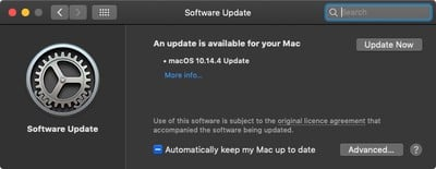 macos mojave software update