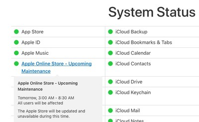 apple store down march 21