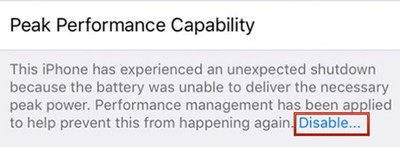 iphoneperformancemanagementdisableoption