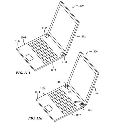 macbook pro distributable feet patent empty space