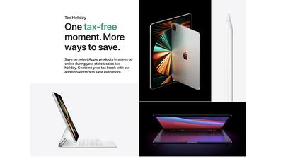 apple sales free tax hoilday