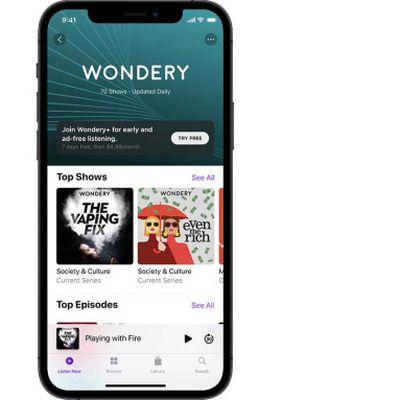 wondery apple iphone