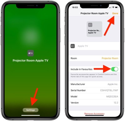 how to set homekit favorites 2
