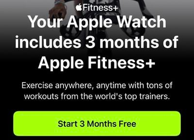 apple fitness plus 3 month trial