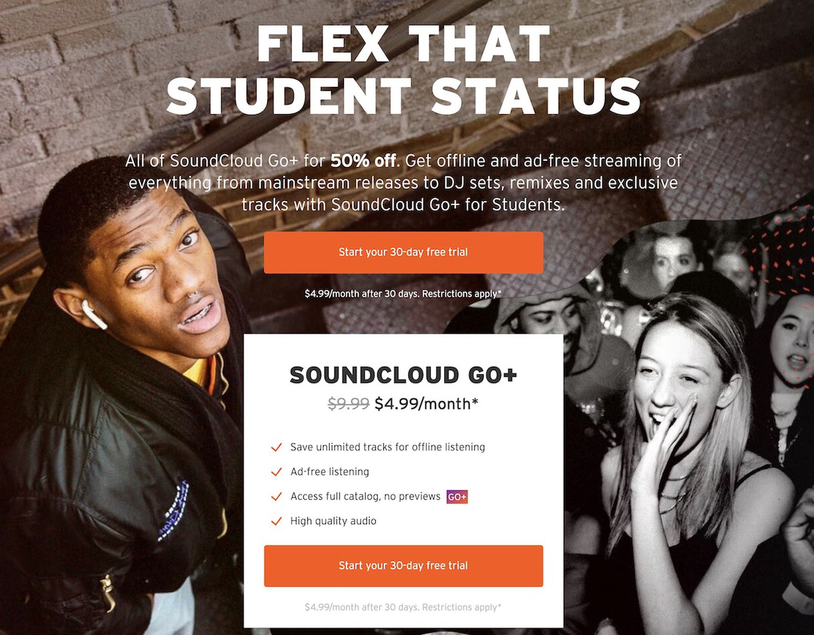 SoundCloud Matches Apple Music and Spotify's Student ...