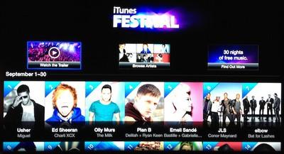 itunes festival 2012 apple tv