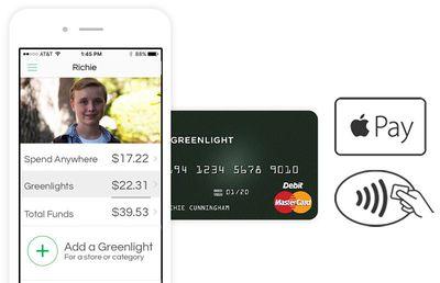 greenlight mastercard apple pay