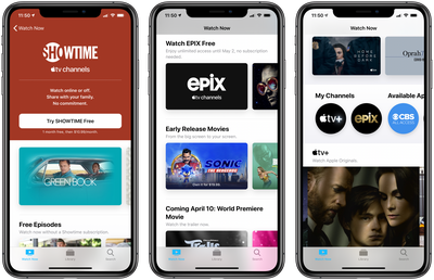 Free EPIX Access Apple TV Channels