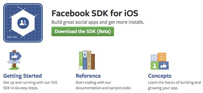 facebook ios dev center