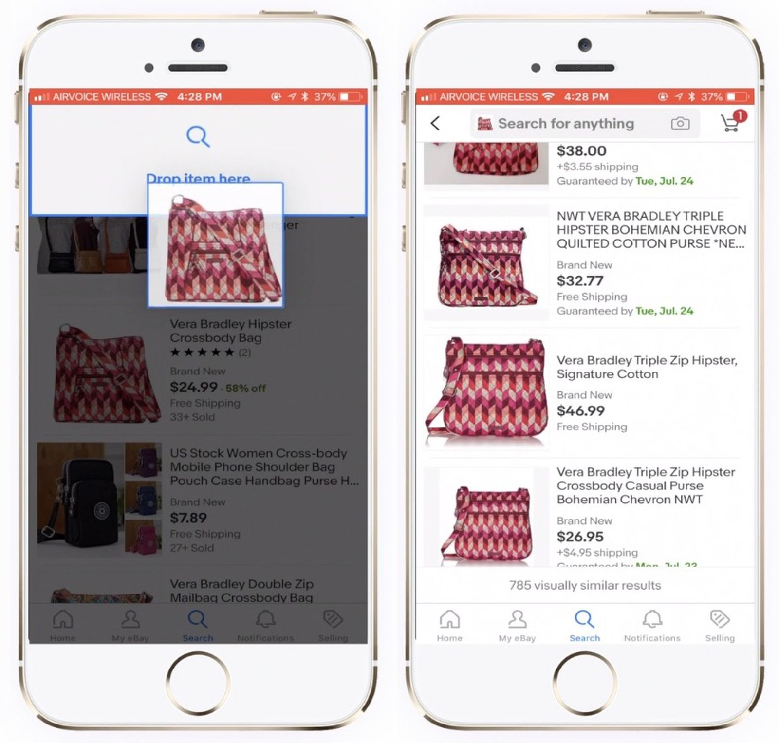 Ebay Announces Drag And Drop Visual Shopping Feature Coming To Ios This August Macrumors