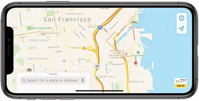 traffic conditions in maps in iOS 13