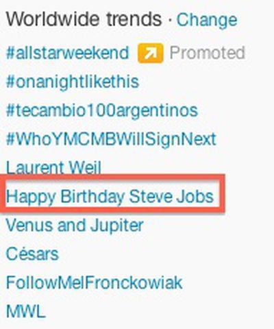 jobs birthday trending twitter