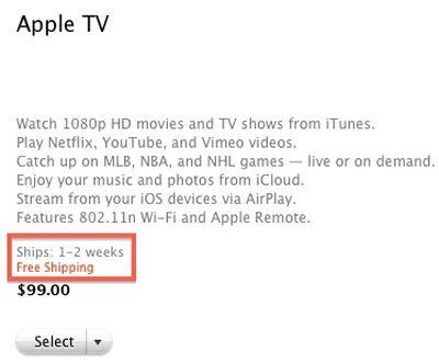 apple tv 2012 1 2 weeks