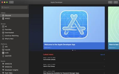 mac developer app discover