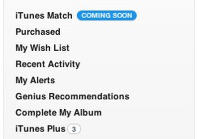 itunes match coming soon