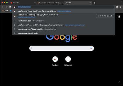 google chrome dark mode macos mojave 1