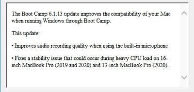 16 inch macbook pro 2020 boot camp 1