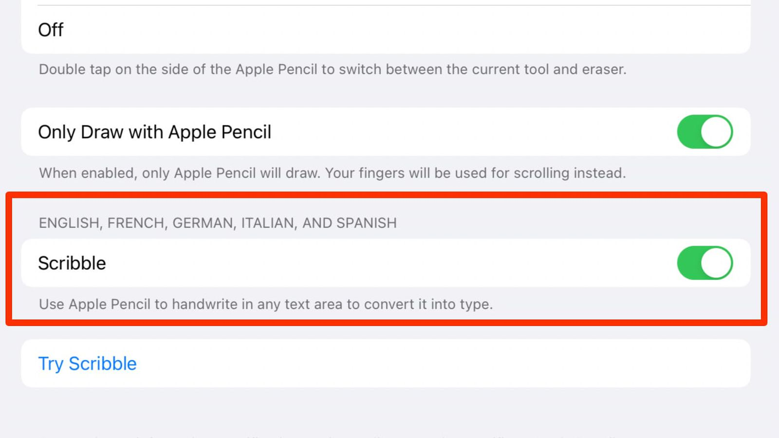 iPadOS 14.5 Beta Adds Apple Pencil Scribble Support for German, French, Spanish, Italian and Portuguese - MacRumors