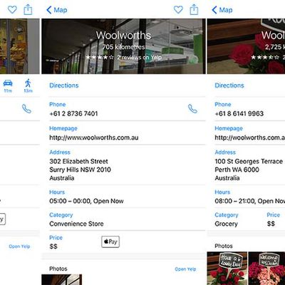 Apple Maps Australia Apple Pay