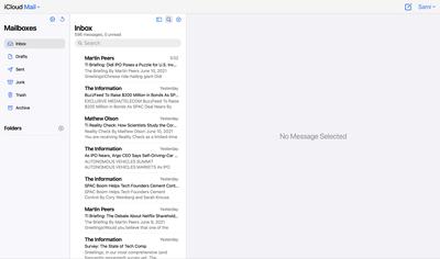 icloud mail beta redesign