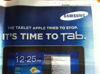 samsung galaxy tab ad australia
