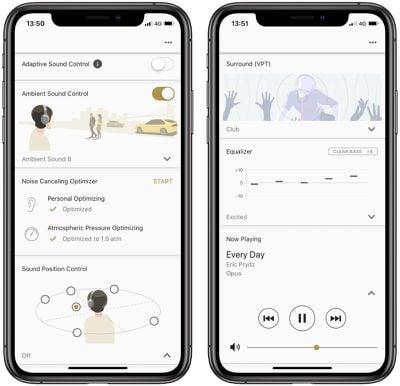 sony connect headphones app