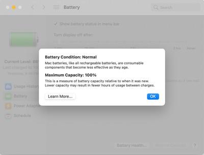 apple battery health management big sur