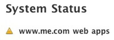 mobileme web apps down