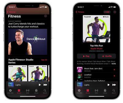 fitness apple music playlists