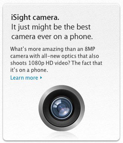 iphone 4s isight