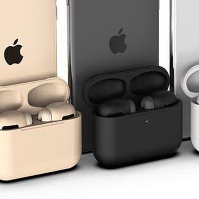 airpods pro midnight green black concept