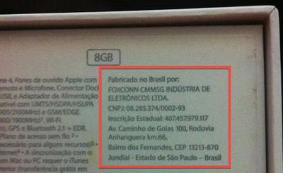 8gb iphone 4 brazil box