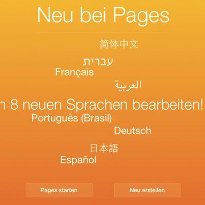 iwork icloud deutsch update