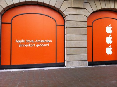 apple store amsterdam orange 1