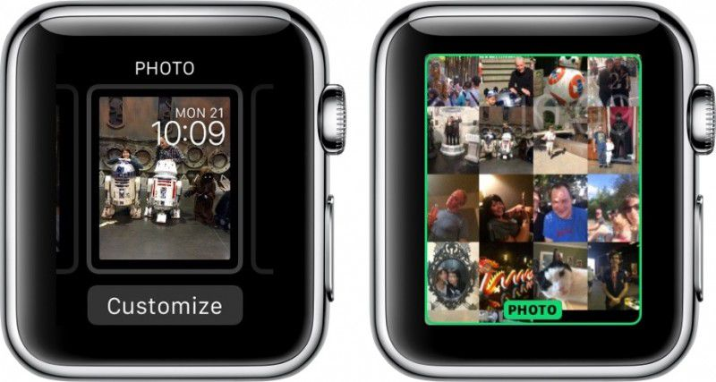 How to add photos to watch face watchos 2